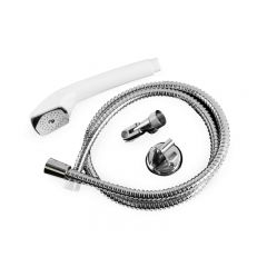 HAND HELD ROSE SHOWER HOSE & BRACKET
