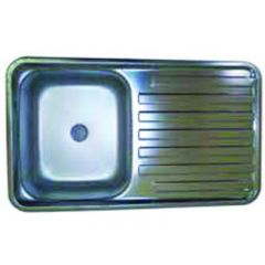 SMEV SINK STAINLESS STEEL AND DRAINER - 650 X 380MM
