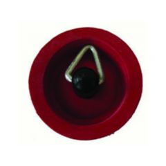 RUBBER SINK PLUG - 25MM RED
