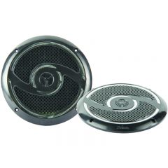 "RV MEDIA 6"" 200W WATERPROOF 30 LED SPEAKERS - BLACK"