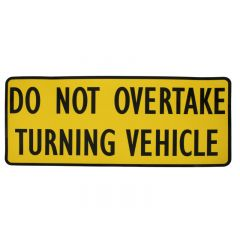 DO NOT OVERTAKE TURNING VEHICLE STICKER
