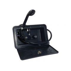RECESS EXTERNAL WALL SHOWER - BLACK
