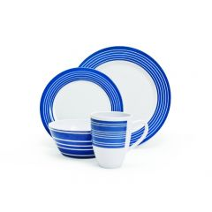 MELAMINE SET - NAUTICAL - 16 PIECE