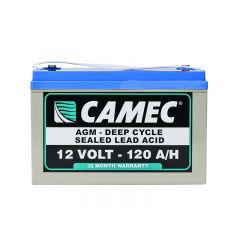 CAMEC 120AH SLA AGM BATTERY FULLY SEALED