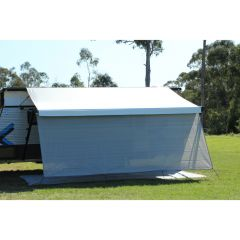 CAMEC PRIVACY SCREEN 4.0M X 1.8M WITH ROPES AND PEGS