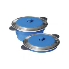 POPUP STOCK POT AND LID - 5 LITRE - BLUE