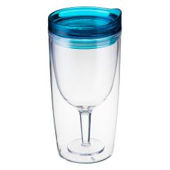 TRAVINO SPILL PROOF WINE SIPPY CUP - BLUE