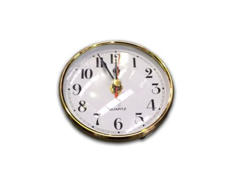 CLOCK WITH GOLD BEZEL - SMALL