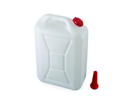 PVC JERRY CAN 20L WITH /BUNG - WHITE