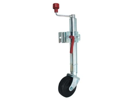 JOCKEY WHEEL 6IN WITH SMALL SWIVEL PLATE