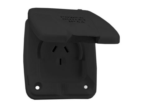 POWER INLET WITH FLAP - 240V BLACK