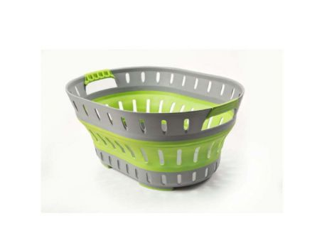 POP-UP LAUNDRY BASKET - GREEN/GREY