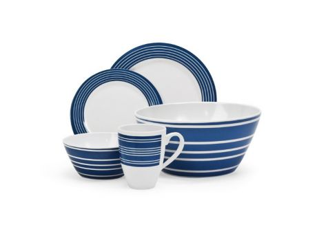 25 PIECE MELAMINE SET NAUTICAL