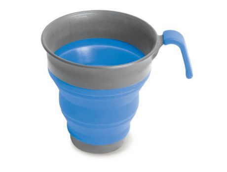 POP-UP NYLON/SILICONE MUG - BLUE