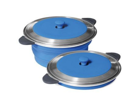 POP-UP STOCK POT AND LID - BLUE