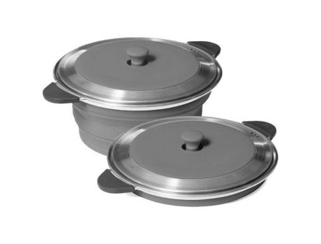 POP-UP STOCK POT AND LID - GREY